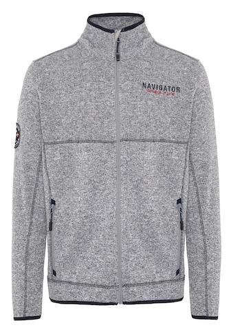 NAVIGATOR Fleecejacke »Men Jacket aus weichem Fleece«, Logo-Badge kaufen