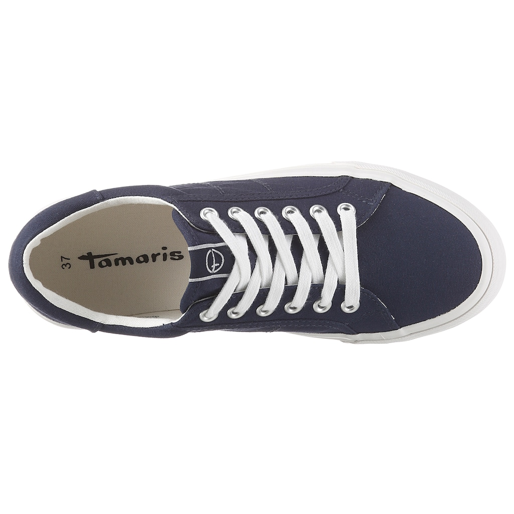 Tamaris Plateausneaker, aus Canvas