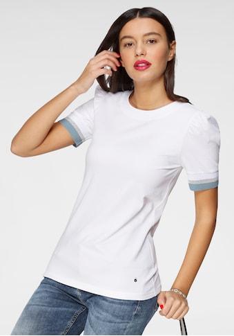 AJC Kurzarmshirt, mit Puffärmeln und glänzendem Kontraststreifen kaufen