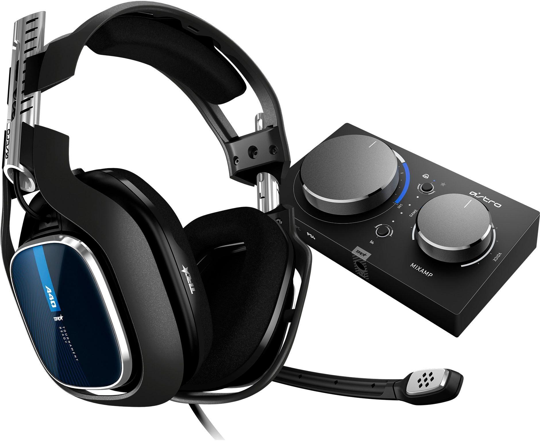 Image of ASTRO »A40 TR Headset + MixAmp Pro TR -NEU- (PS4, PS3, PC, MAC)« Gaming-Headset (kabelgebunden, Rauschunterdrückung, außenstehendes Mikrofon)
