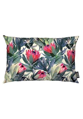 Juniqe Dekokissen »Painted Protea Pattern«, Weiches, allergikerfreundliches Material kaufen