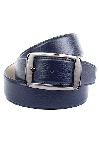 Anthoni Crown Ledergürtel, mit Schliesse in schwarz-metallic kaufen