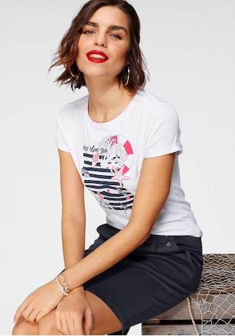 Tamaris Rundhalsshirt, mit maritimem Frontprint kaufen