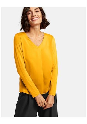 Taifun T - Shirt Langarm Rundhals »Blusenshirt mit Chiffon - Layer« kaufen