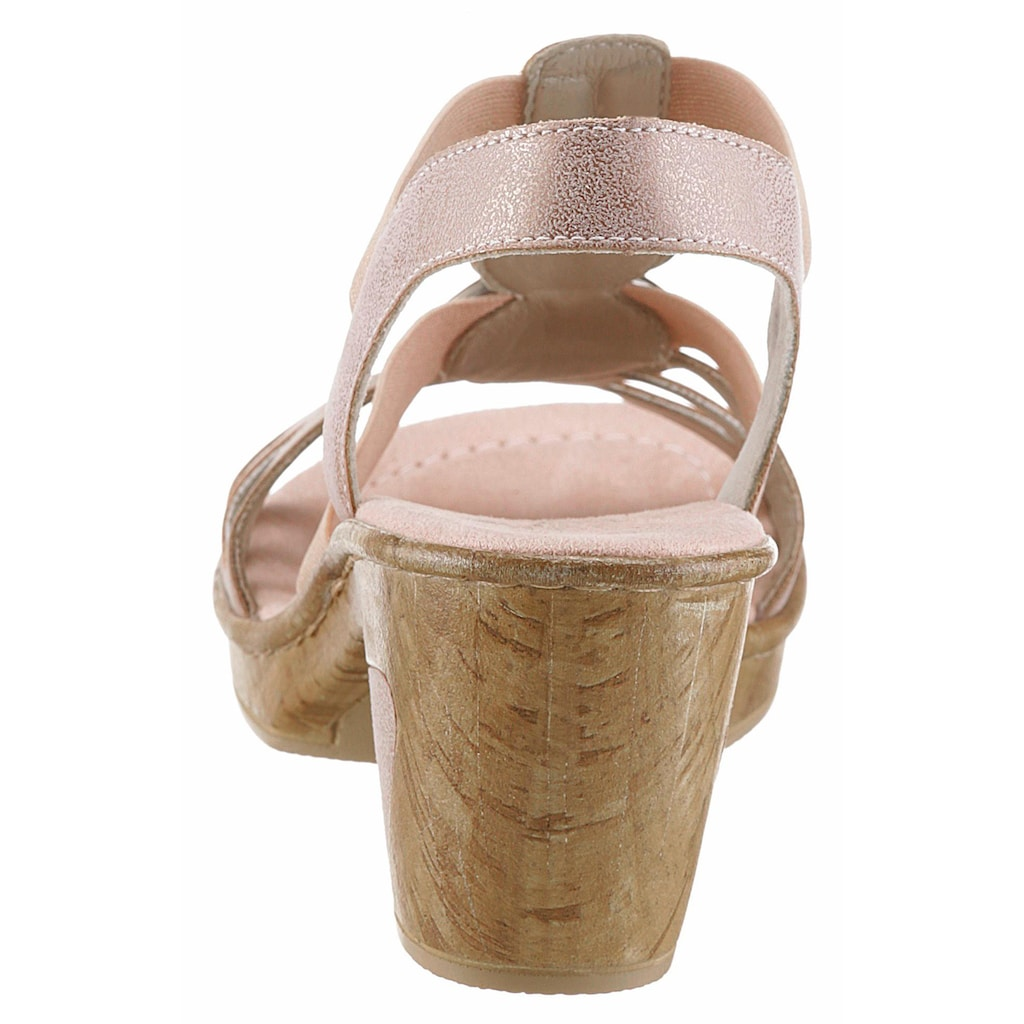 Rieker Sandalette, mit angesagter Schmuck-Applikation