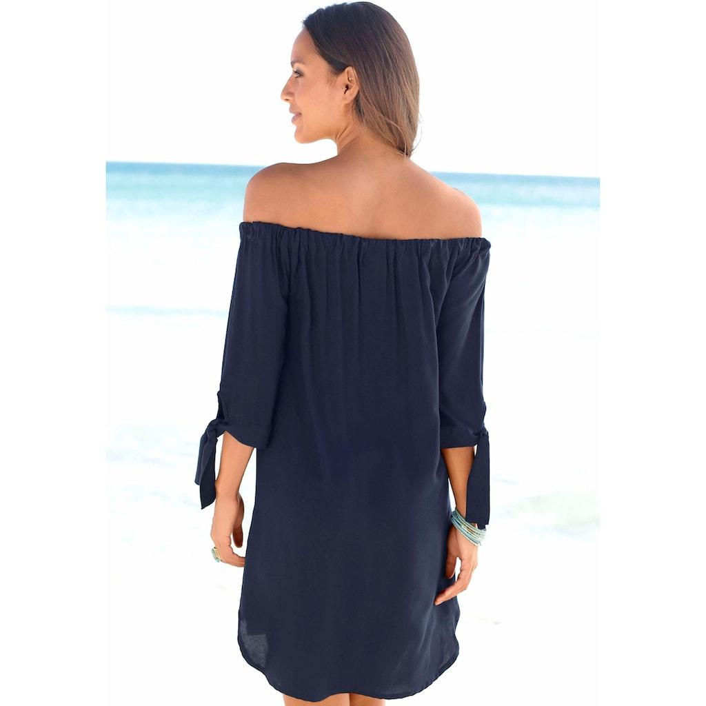 LASCANA Blusenkleid, mit Carmenausschnitt
