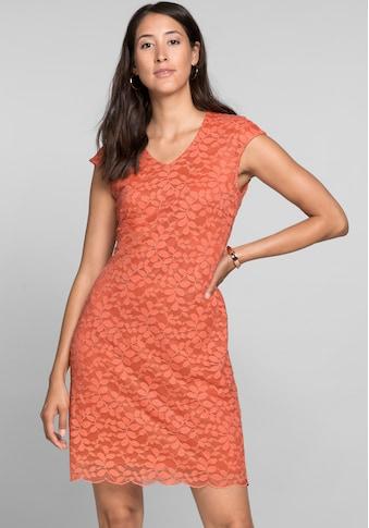 bianca Spitzenkleid »DIODORA«, in der angesagten Trendfarbe mit V-Ausschnitt kaufen