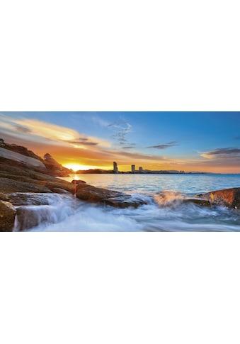 Home affaire Glasbild »Palo ok: Sonnenuntergangszeit am Hua-Hin Strand in Thailand«,... kaufen