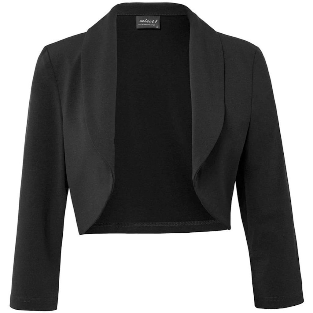 HERMANN LANGE Collection Kurzjacke, in eleganter Boleroform, aus festerm Jersey