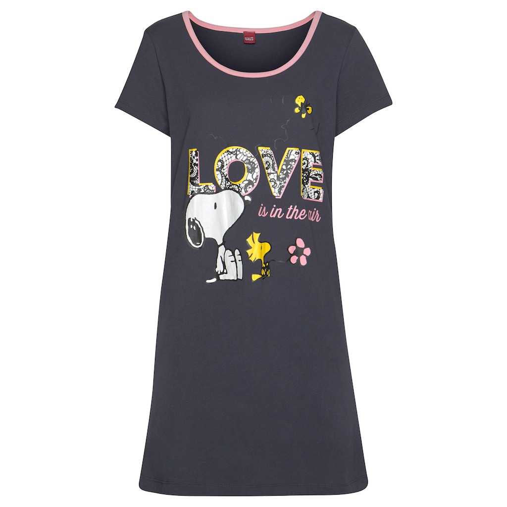 Peanuts Sleepshirt, mit großem Snoopy-Motiv