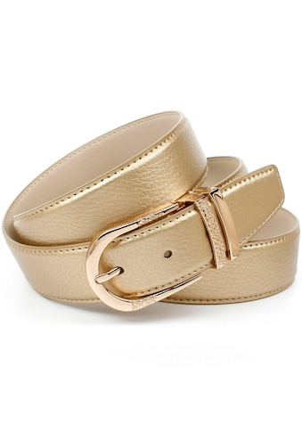 Anthoni Crown Ledergürtel, mit Fashion-Dornschliesse, doppelte Metallschlaufe kaufen