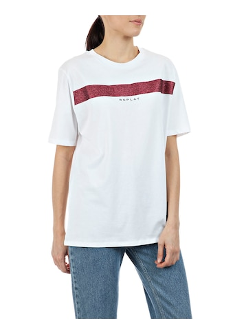 Replay T-Shirt, mit Glitzer& Logo-Print kaufen
