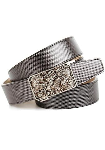 Anthoni Crown Ledergürtel, Schliesse mit Drachen-Motiv kaufen