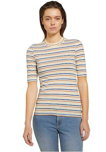 TOM TAILOR Denim T-Shirt, in süsser Ringel Optik kaufen