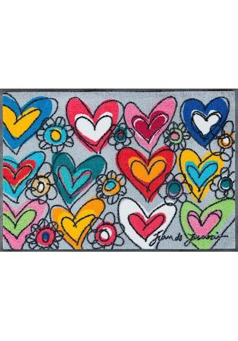 wash+dry by Kleen-Tex Fussmatte »With Love«, rechteckig, 7 mm Höhe, Schmutzfangmatte kaufen