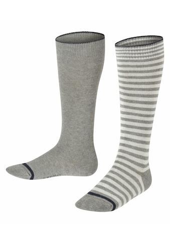 Esprit Kniestrümpfe »Easy Stripe 2-Pack«, (1 Paar), aus Baumwolle kaufen