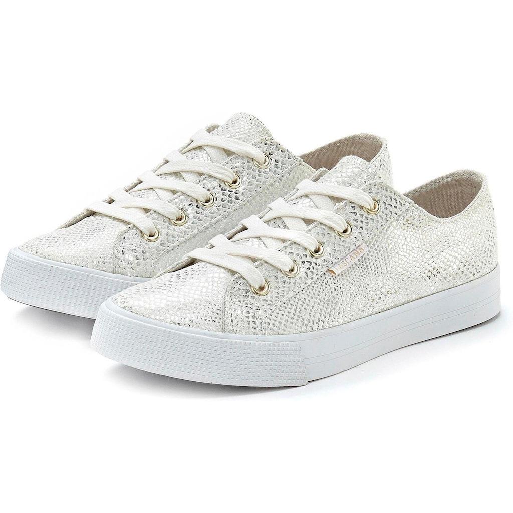 LASCANA Sneaker, mit Glitzer und Animalprägung