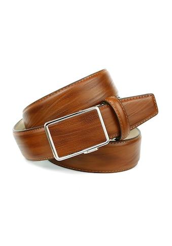 Anthoni Crown Ledergürtel, in angesagter Cognac Farbe, Schliesse farblich passend bezogen kaufen