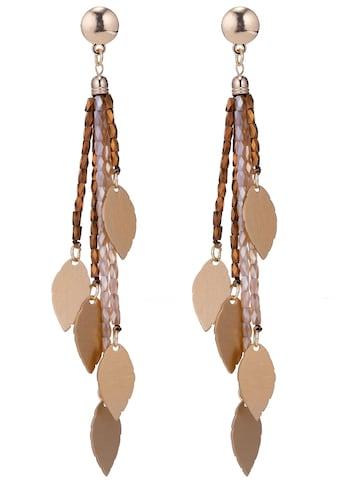 J.Jayz Paar Ohrstecker »mehrreihige Stränge mit Blätter verziert«, mit Glasperlen kaufen