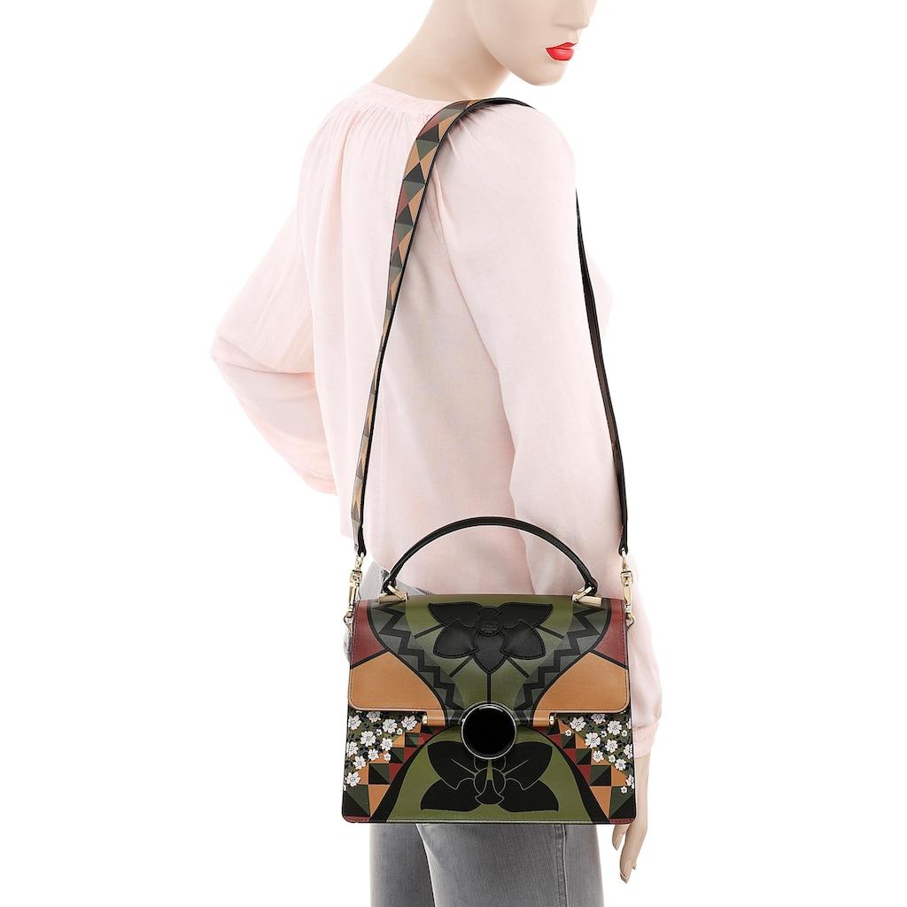 TOSCA BLU Umhängetasche »REMEMBER ME«, mit schönem Blumenprint aus hochwertigem Leder