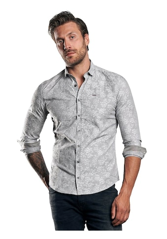emilio adani Langarmhemd mit floralem Muster kaufen