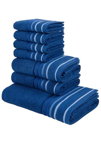 my home Handtuch Set »Niki«, mit Streifenbordüren kaufen