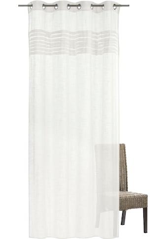 freundin Home Collection Gardine »FD Natural Charme 001«, Ösenschal, 255x140 cm kaufen