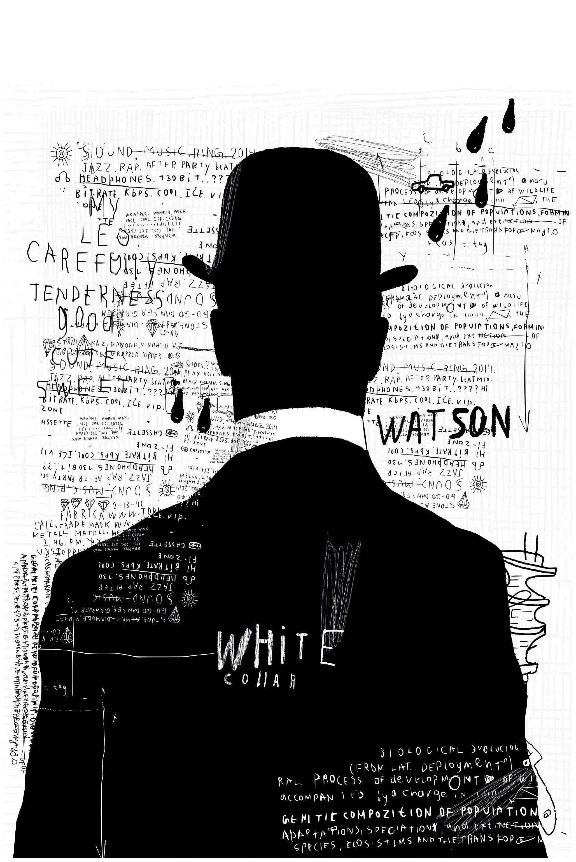Image of Art & Pleasure Acrylglasbild »Black and White man«