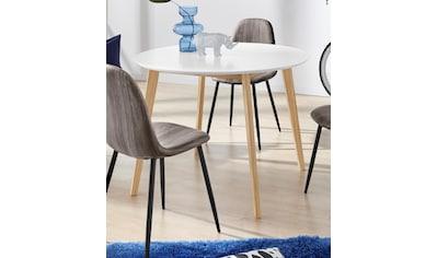INOSIGN Esstisch »Cody«, mit Beinen aus massiver Kiefer, runde MDF-Tischplatte, in 2... kaufen