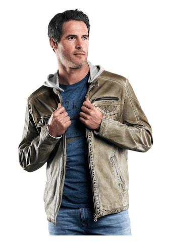 Engbers Lederjacke mit abnehmbarer Kapuze kaufen