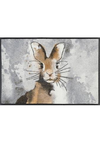 wash+dry by Kleen-Tex Fussmatte »Hopps«, rechteckig, 7 mm Höhe, Schmutzfangmatte, In-... kaufen