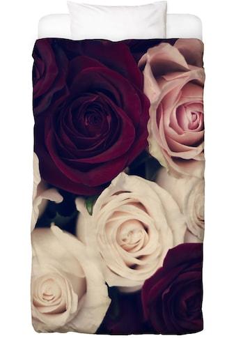 Juniqe Bettwäsche »Rose Bouquet«, In vielen weiteren Designs erhältlich kaufen
