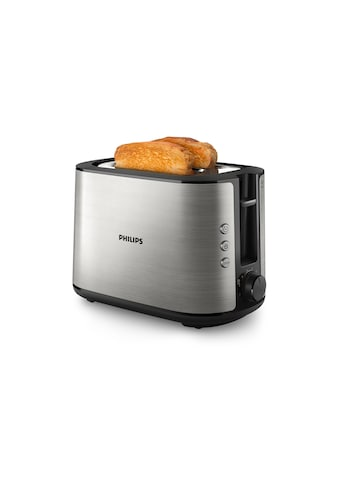 Philips Toaster »Viva Collection HD2650/91 Schwarz/Edelstahl«, 950 W kaufen