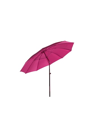 Sonnenschirm »Ø 270 cm, Aluminium, Push-up, Pink« kaufen