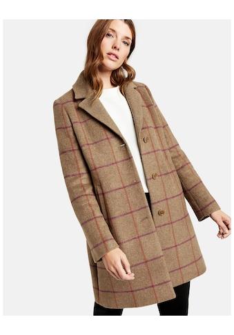 GERRY WEBER Mantel Wolle »Kurzmantel mit Fensterkaro« kaufen