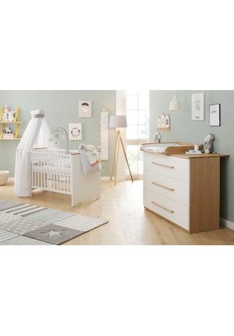 Lüttenhütt Baby Babymöbel-Set »Lauris, weiss/eiche«, (Spar-Set, 2 St.), FSC®-Holz aus... kaufen