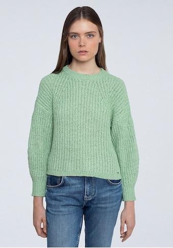 Pepe Jeans Rundhalspullover »ANNE«, grob gestrickt in melierter Optik kaufen