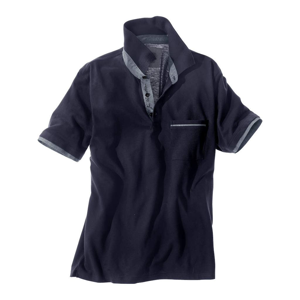 Jan Vanderstorm Poloshirt »MELKER«, luftiges Pikee aus Baumwolle
