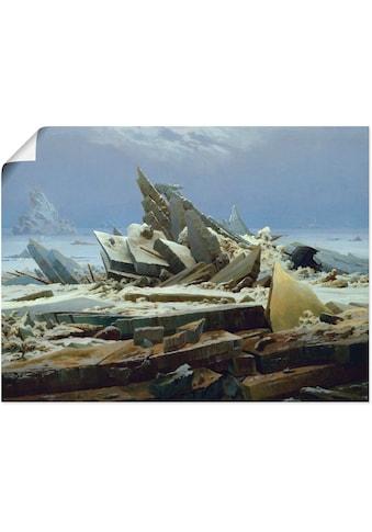 Artland Wandbild »Das Eismeer (Die gescheiterte Hoffnung)«, Gewässer, (1 St.), in... kaufen