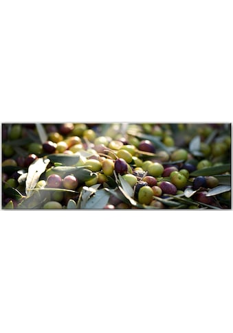 Wall-Art Acrylglasbild »Mediterrane Oliven - Panorama«, 80/30 cm kaufen