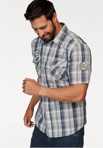 Man's World Kurzarmhemd, im Karodesign kaufen