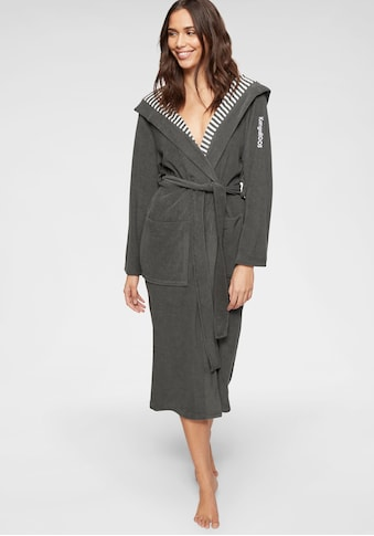 KangaROOS Damenbademantel »Dalia«, aussen Unifarben und innen mit Streifen kaufen