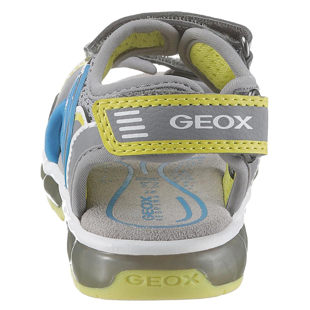 Geox Kids Sandale »Blinkschuh Sandal Android Boy«, mit cooler Blinkfunktion zum An- und Ausschalten
