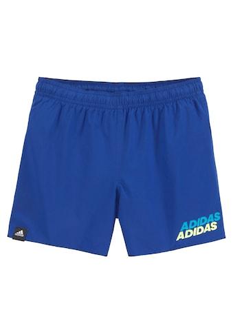 adidas Performance Badeshorts, mit kontrastfarbenem Logodruck kaufen