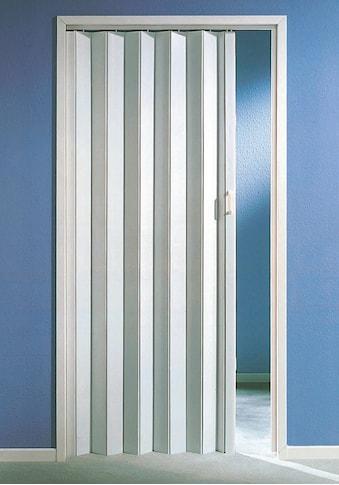 Falttür, Höhe nach Mass, weiss ohne Fenster kaufen