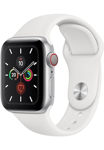 Watch Series 5 GPS + Cellular, Aluminium silberfarben, 44 mm mit Sportarmband, Apple kaufen