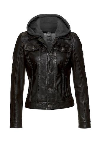Gipsy Lederjacke »Yeenie«, im Jeansjacken-Look mit abnehmbarer Jersey-Kapuze kaufen