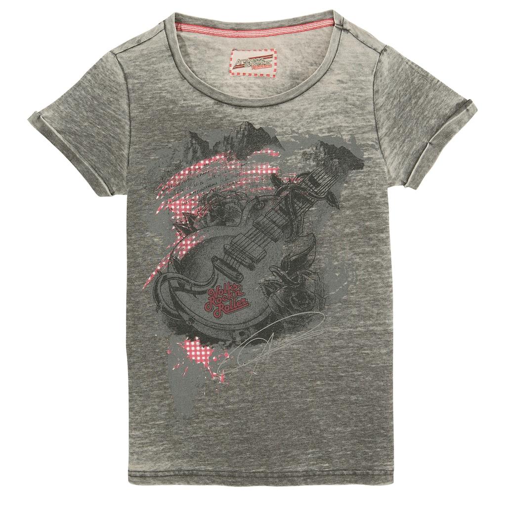 Andreas Gabalier Kollektion Trachtenshirt, Damen mit coolem Gitarrendruck