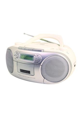 DAB+ Radio Boombox, soundmaster, »SCD7900WE Weiss Silberfarben Mehrfarbig« kaufen
