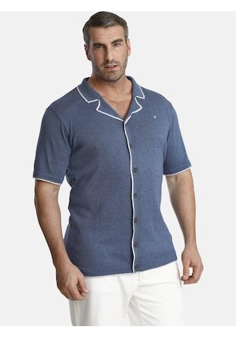 Charles Colby Poloshirt »EARL STEVE«, Strickpolo im Reto-Look kaufen